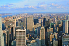View over New York skyline. By day seen from Rockefeller center Stock Photography