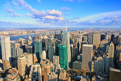View over New York skyline. By day seen from Rockefeller center Royalty Free Stock Images