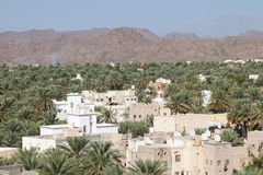 View over the Nizwa town oasis, Oman Royalty Free Stock Image
