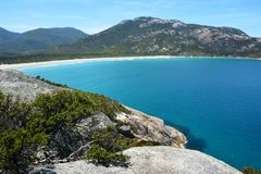 View over Norman Bay in Wilsons Promontory National Park Royalty Free Stock Image