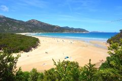 View over Norman Bay in Wilsons Promontory National Park Stock Images