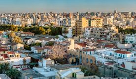 View over northern part of Nicosia. Cyprus Royalty Free Stock Photos