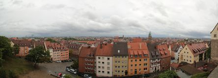 View over Nuremberg as seen from the castle royalty free stock photography