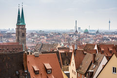View over Nuremberg city Stock Photo