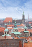 View over Nuremberg in Germany Stock Photos
