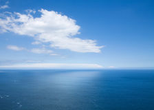 View over the ocean Royalty Free Stock Images