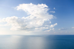 View over the ocean far below Royalty Free Stock Images
