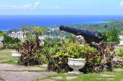 View over Ocho Rios port town from Shaw Park Botan Royalty Free Stock Photos