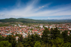 View over Ohrid, Macedonia. View over the town of Ohrid in Macedonia Royalty Free Stock Images
