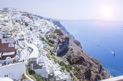 View over Oia Stock Photo