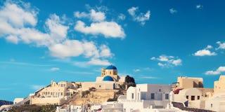 View over Oia village, Santorini island, Greece Royalty Free Stock Image