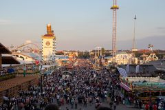 View over the Oktoberfest, wiesn, 2018, royalty free stock photos