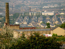 View over the Old Cotton Town of Burnley Lancashire Stock Photo