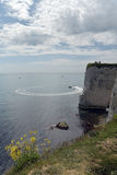 View over Old Harry Rocks, Swanage Stock Images