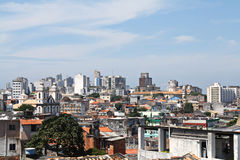 View over old houses in salvador bahia, brazil Royalty Free Stock Photo