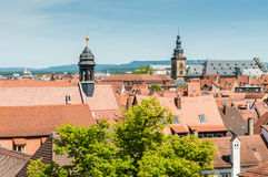 View over the old town of Bamberg Royalty Free Stock Image