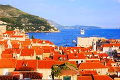 View over the old town of Dubrovnik, Croatia Royalty Free Stock Photography
