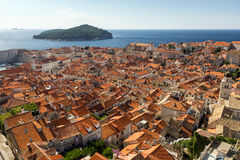 View over the Old Town in Dubrovnik Royalty Free Stock Images
