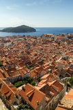 View over the Old Town in Dubrovnik Stock Photo