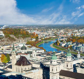 View Over Old Town In Salzburg Stock Images