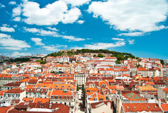 View over old town lisbon Royalty Free Stock Photo