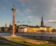View over the old town in Stockholm, Sweden Royalty Free Stock Photo