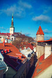 View over the Old Town of Tallinn Royalty Free Stock Images