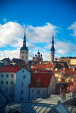View over the Old Town of Tallinn Stock Images