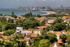 View over Olinda and Recife. View over Recife from Olinda, Brazil Stock Images