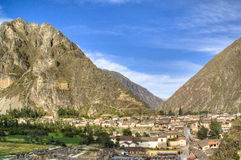 View over Ollantaytambo Royalty Free Stock Images