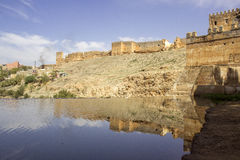 View over Oum Errabia river and Kasba Tadla city in Béni-Mellal Royalty Free Stock Photography