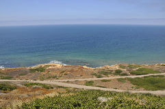 View over the Pacific Ocean from Cabrillo Point Royalty Free Stock Photography