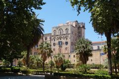 View over Palace of the Normans in Palermo Royalty Free Stock Photos