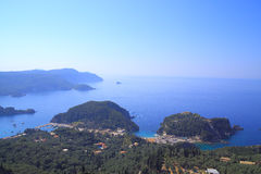 View over Paleokastritsa on corfu island Stock Photography