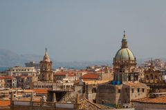 A view over Palermo from the roof of the Cathedral, Sicily Stock Photo