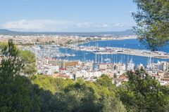 View over Palma de Mallorca, Balearic islands, Spain Royalty Free Stock Photo