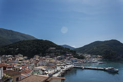 View over the Parga Harbour, Parga Greece Stock Photography