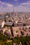 View over paris. High angle view of eiffel tower over paris Royalty Free Stock Photography