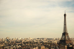 View over paris. From triumphal arch stock photography