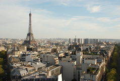 View over paris. From triumphal arch royalty free stock photography