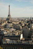 View over paris. From triumphal arch royalty free stock images