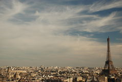 View over paris. From triumphal arch stock photo