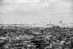 View over Paris cloudy sky city center France Royalty Free Stock Photography