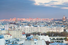 View over Paris at evening Royalty Free Stock Photography