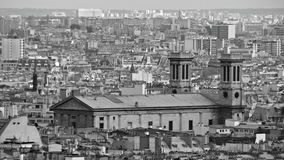 View over Paris, France. Midday in Paris, view from a hill, France Royalty Free Stock Photos