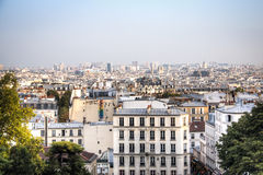 View over Paris from Montmartre Royalty Free Stock Photos