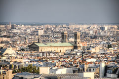 View over Paris from Montmartre Stock Photos