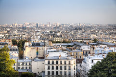 View over Paris from Montmartre Royalty Free Stock Image
