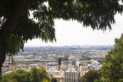 View over Paris from Montmartre stock photo