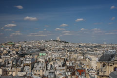 A view over Paris. A view over old city of Paris, France Stock Photos